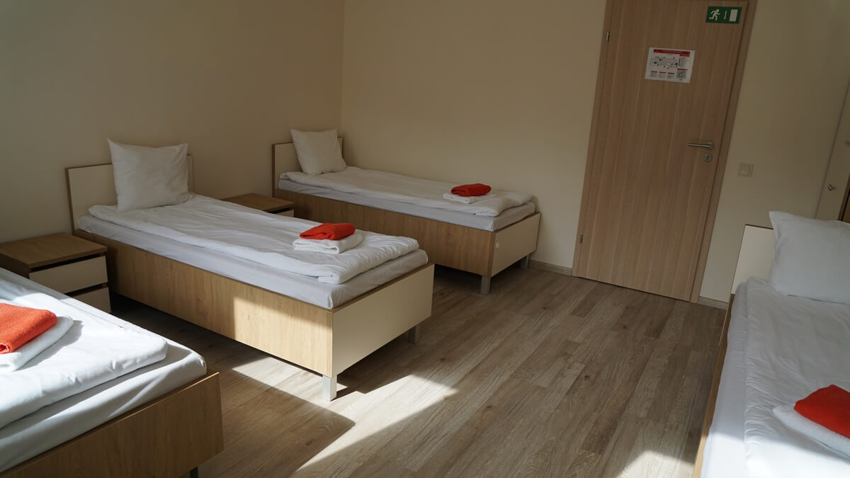 Quadrupe Room with four Single beds