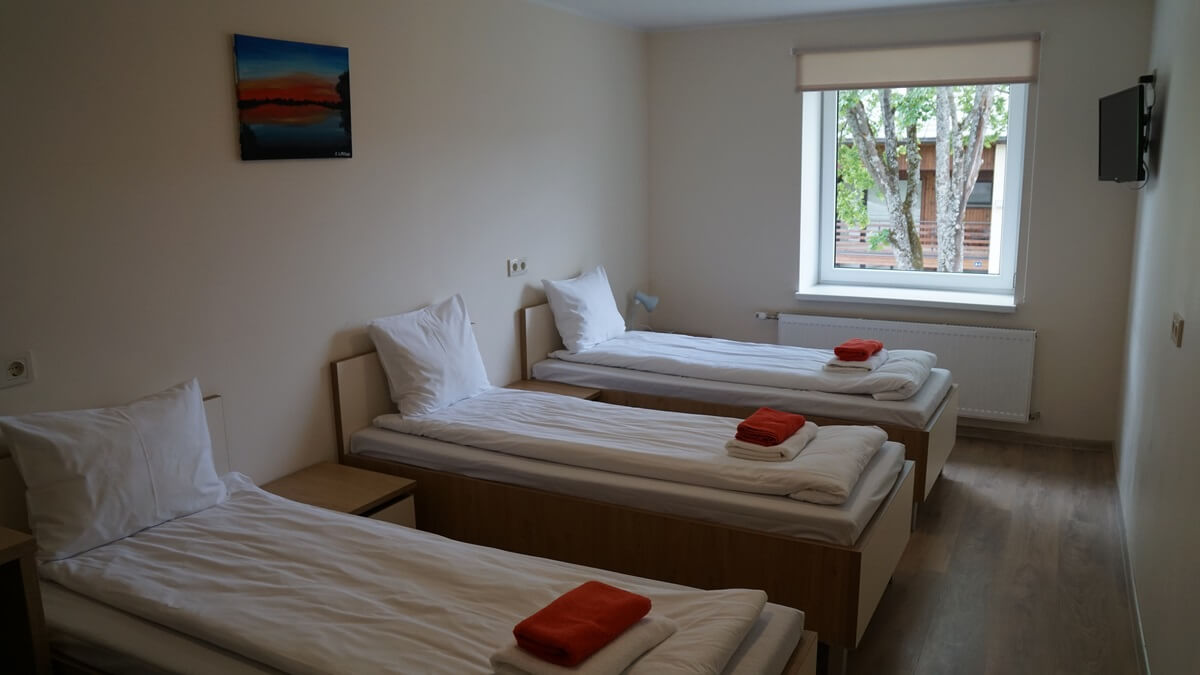Triple rooms with Three Single Beds